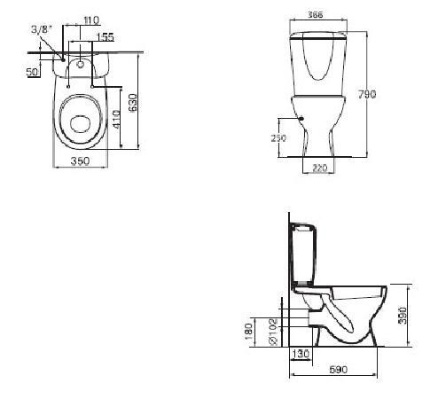 Унитаз Ideal Standard Ecco W 9042 01. Купить в Москве с доставкой ...