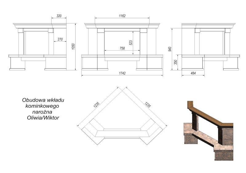 Как построить угловой камин своими руками чертежи